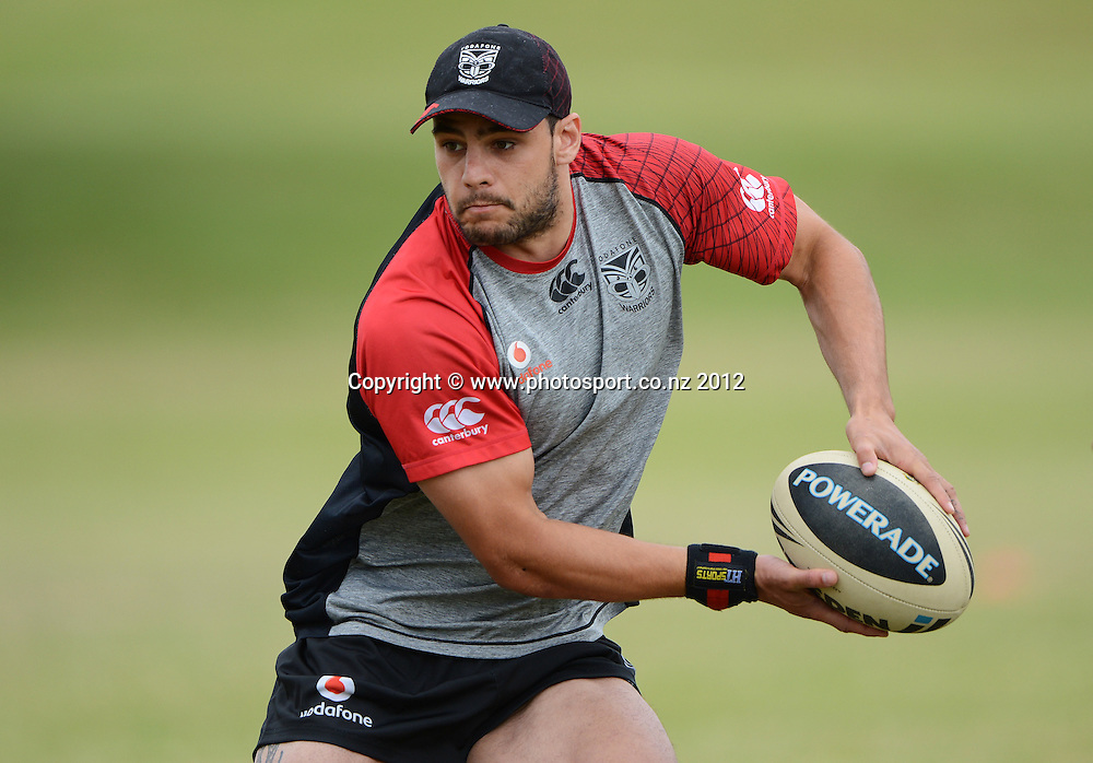 Steve Rapira. NRL Rugby League. Vodafone Warriors pre season training session at One Tree Hill, Auckland, New Zealand on Thursday 20 December 2012. Photo: Andrew Cornaga/photosport.co.nz
