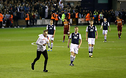 Millwall fans invade the pitch before full time in anticipation of reaching the League One Playoff Final - Mandatory by-line: Robbie Stephenson/JMP - 20/05/2016 - FOOTBALL - The Den - London, England - Millwall v Bradford City - Sky Bet League One Play-Off Semi-Final second leg