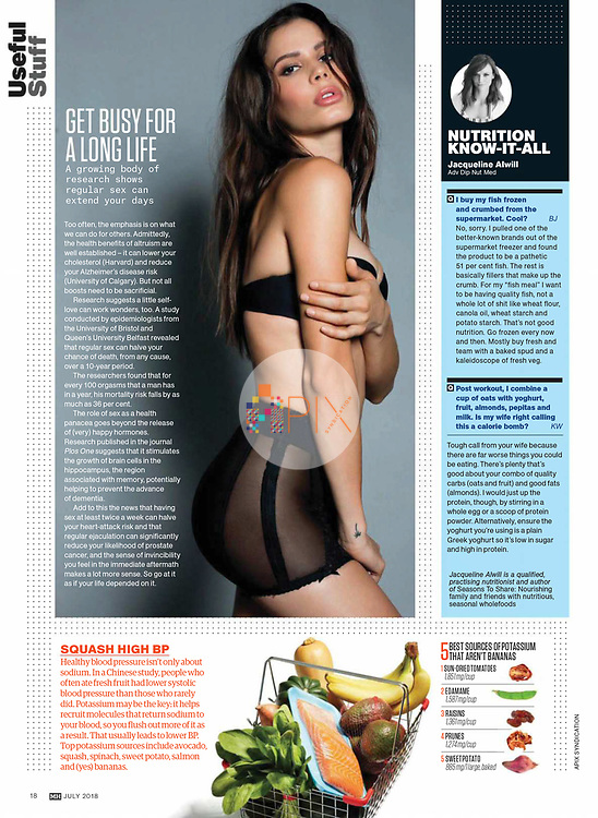 More fascinating research and hot health tips from Men's Health magazine in Australia, appropriately illustrated by our lingerie shoot with Dahiana Hahn which is available now:  https://www.apixsyndication.com/gallery/Dahiana-Hahn/G0000a..Nu6QxwXQ/C0000eOK7HvNidpY
