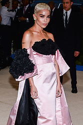 Zoe Kravitz arriving at The Metropolitan Museum of Art Costume Institute Benefit celebrating the opening of Rei Kawakubo / Comme des Garcons : Art of the In-Between held at The Metropolitan Museum of Art  in New York, NY, on May 1, 2017. (Photo by Anthony Behar) *** Please Use Credit from Credit Field ***