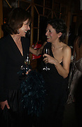 Charlotte Sodes and Olga Polizzi. Olga Polizzi and Rocco Forte host a party to celebrate the re-opening of Brown's Hotel  after a  £19 million renovation. Albermarle St. London. 12 December 2005. ONE TIME USE ONLY - DO NOT ARCHIVE  © Copyright Photograph by Dafydd Jones 66 Stockwell Park Rd. London SW9 0DA Tel 020 7733 0108 www.dafjones.com