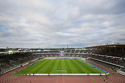 HELSINKI, FINLAND - Friday, July 31, 2015: A general view of the Olympic Stadium as HJK Helsinki take on Liverpool in a preseason friendly. (Pic by David Rawcliffe/Propaganda)