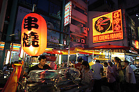 Chinatown food stalls on Jalan Sultan.