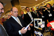 08.FEBRUARY.2012. MONACO<br /> <br /> PRINCE ALBERT II OF MONACO USES 3D GLASSES DURING A VISIT TO THE IMAGINA DIGITAL IMAGING EXHIBITION IN MONACO 8 FEBRUARY, 2012. IMAGINA IS THE INTERNATIONAL 3D MARKET FOR PROFESSIONALS.<br /> <br /> BYLINE: EDBIMAGEARCHIVE.COM<br /> <br /> *THIS IMAGE IS STRICTLY FOR UK NEWSPAPERS AND MAGAZINES ONLY*<br /> *FOR WORLD WIDE SALES AND WEB USE PLEASE CONTACT EDBIMAGEARCHIVE - 0208 954 5968*