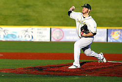14 May 2016:  Chris Carmain during a Frontier League Baseball game between the Joliet Slammers and the Normal CornBelters at Corn Crib Stadium on the campus of Heartland Community College in Normal Illinois