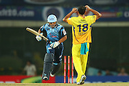 Titans captain Henry Davids sets off during match 3 of the Karbonn Smart Champions League T20 (CLT20) 2013  between The Chennai Superkings and the Titans held at the JSCA International Cricket Stadium, Ranchi on the 22nd September 2013<br /> <br /> Photo by Ron Gaunt-CLT20-SPORTZPICS  <br /> <br /> Use of this image is subject to the terms and conditions as outlined by the CLT20. These terms can be found by following this link:<br /> <br /> http://sportzpics.photoshelter.com/image/I0000NmDchxxGVv4