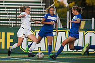 The women's soccer game between the Central Connecticut State Blue Devils and the Vermont Catamounts at Virtue Field on Friday night August 26, 2016 in Burlington, Vermont.