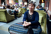 Marina Litvinenko, 51, the widow of poisoned ex-KGB Russian spy Alexander Litvinenko, is portrayed in the lobby of the Renaissance Hotel in King's Cross Saint Pancreas, London, UK. Alexander Litvinenko was assassinated with radioactive Polonium in London in November 2006.