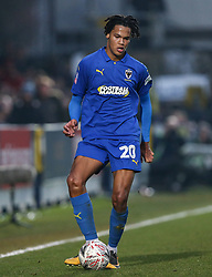 Toby Sibbick of AFC Wimbledon on the ball - Mandatory by-line: Arron Gent/JMP - 16/02/2019 - FOOTBALL - Cherry Red Records Stadium - Kingston upon Thames, England - AFC Wimbledon v Millwall - Emirates FA Cup fifth round proper