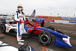 March 10, 2018 - St. Petersburg, Florida, United States of America - March 10, 2018 - St. Petersburg, Florida, USA: Matheus Leist (4) climbs into his car during final practice for the Firestone Grand Prix of St. Petersburg at Streets of St. Petersburg in St. Petersburg, Florida. (Credit Image: © Justin R. Noe Asp Inc/ASP via ZUMA Wire)