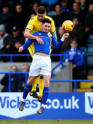 Ryan Sweeney of Bristol Rovers challenges Ian Henderson of Rochdale - Mandatory by-line: Matt McNulty/JMP - 04/02/2017 - FOOTBALL - Crown Oil Arena - Rochdale, England - Rochdale v Bristol Rovers - Sky Bet League One