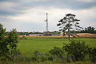 May, 26, 2014, Wilkinson County, MS, Halcon Blackstone 4H-2 well with rig in place at a hydraulic fracturing site in the Tuscaloosa shale region where exploratory wells are being built and utilized Louisiana and Mississippi.