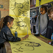 London, England, UK. 22th September 2017. Manufactory of Kingston School of Art free workshop as part London Design Fair 2017 at Old Spitalfields Market.