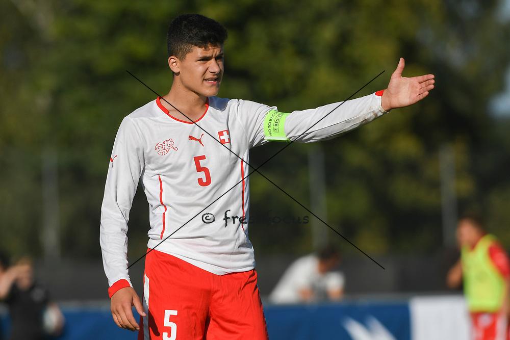 21.09.2017; Niederhasli; FUSSBALL U16 - Schweiz - Italien;<br /> Elmedin Fazlic (SUI) <br /> (Andy Mueller/freshfocus)