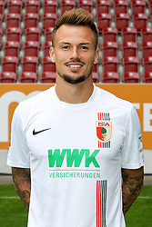 08.07.2015, WWK Arena, Augsburg, GER, 1. FBL, FC Augsburg, Fototermin, im Bild Ronny Philp #3 (FC Augsburg) // during the official Team and Portrait Photoshoot of German Bundesliga Club FC Augsburg at the WWK Arena in Augsburg, Germany on 2015/07/08. EXPA Pictures © 2015, PhotoCredit: EXPA/ Eibner-Pressefoto/ Kolbert<br /> <br /> *****ATTENTION - OUT of GER*****