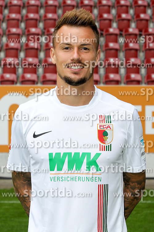08.07.2015, WWK Arena, Augsburg, GER, 1. FBL, FC Augsburg, Fototermin, im Bild Ronny Philp #3 (FC Augsburg) // during the official Team and Portrait Photoshoot of German Bundesliga Club FC Augsburg at the WWK Arena in Augsburg, Germany on 2015/07/08. EXPA Pictures &copy; 2015, PhotoCredit: EXPA/ Eibner-Pressefoto/ Kolbert<br /> <br /> *****ATTENTION - OUT of GER*****