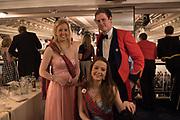 OLIVIA L'ESTRANGE; ROSANNA L'ESTRANGE; LT. ED MILLS, The Royal Caledonian Ball 2017, Grosvenor House, 29 April 2017