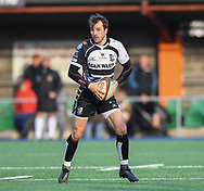 Pontypridds Dale Stuckey<br /> <br /> Photographer Mike Jones/Replay Images<br /> <br /> Principality Premiership Merthyr v Pontypridd - Saturday 17th February 2018 - The Wern Merthyr Tydfil<br /> <br /> World Copyright &copy; Replay Images . All rights reserved. info@replayimages.co.uk - http://replayimages.co.uk