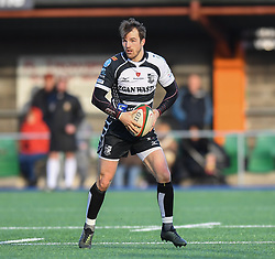 Pontypridds Dale Stuckey<br /> <br /> Photographer Mike Jones/Replay Images<br /> <br /> Principality Premiership Merthyr v Pontypridd - Saturday 17th February 2018 - The Wern Merthyr Tydfil<br /> <br /> World Copyright © Replay Images . All rights reserved. info@replayimages.co.uk - http://replayimages.co.uk