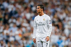 Cristiano Ronaldo of Real Madrid sticks out his lip - Mandatory byline: Rogan Thomson/JMP - 04/05/2016 - FOOTBALL - Santiago Bernabeu Stadium - Madrid, Spain - Real Madrid v Manchester City - UEFA Champions League Semi Finals: Second Leg.