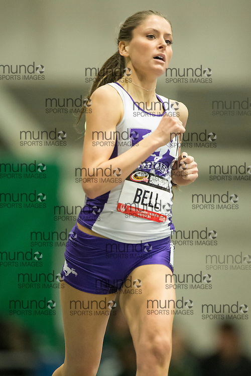 Windsor, Ontario ---2015-03-12--- Katie Bell of Western University competes in the 600m at the 2015 CIS Track and Field Championships in Windsor, Ontario, March 12, 2015.<br /> GEOFF ROBINS/ Mundo Sport Images