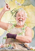 Mr Stink <br /> by David Walliams<br /> live on stage<br /> World Premier<br /> illustrated by Quentin Blake<br /> adapted &amp; directed by Matthew White<br /> press photocall<br /> at the Hackney Empire, London, Great Britain <br /> 21st June 2011<br /> <br /> Peter Edbrook (as Mr Stink)<br /> <br /> Photograph by Elliott Franks