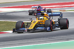 May 11, 2019 - Barcelona, Catalonia, Spain - McLaren Renault driver Lando Norris (4) of Great Britain and Scuderia Toro Rosso HONDA driver Daniil Kvyat (26) of Russia during F1 Grand Prix qualifying celebrated at Circuit of Barcelona 11th May 2019 in Barcelona, Spain. (Credit Image: © Mikel Trigueros/NurPhoto via ZUMA Press)