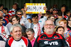 Supporters in the stands - Mandatory byline: Rogan Thomson/JMP - 07966 386802 - 25/09/2015 - RUGBY UNION - Kingsholm Stadium - Gloucester, England - Argentina v Georgia - Rugby World Cup 2015 Pool C.