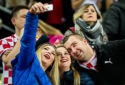 Supporters of Croatia making selfie after the handball match between National teams of Croatia and France on Day 7 in Main Round of Men's EHF EURO 2018, on January 24, 2018 in Arena Zagreb, Zagreb, Croatia.  Photo by Vid Ponikvar / Sportida