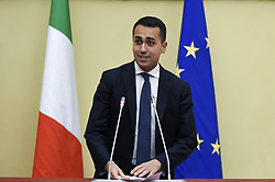 Italy, Rome - April 24, 2018.The leader of Five Star Moviment (M5S) Luigi Di Maio talks to the media after a meeting with Lower House Speaker Roberto Fico for a round of consultations (Credit Image: © Mistrulli/Fotogramma/Ropi via ZUMA Press)