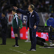 Coach Jürgen Klinsmann, USA, on the sideline during the USA Vs Ecuador International match at Rentschler Field, Hartford, Connecticut. USA. 10th October 2014. Photo Tim Clayton