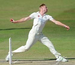Liam Norwell of Gloucestershire bowls - Photo mandatory by-line: Dougie Allward/JMP - Mobile: 07966 386802 - 09/07/2015 - SPORT - Cricket - Cheltenham - Cheltenham College - LV=County Championship 2
