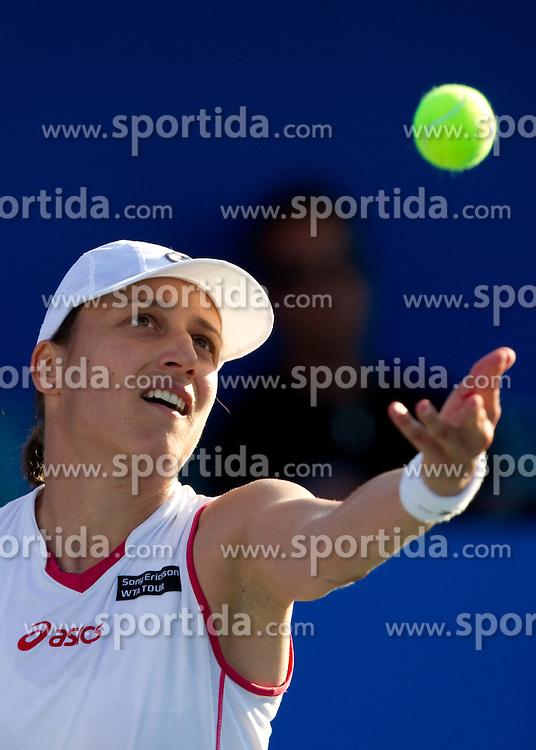Katarina Srebotnik of Slovenia at 2nd Round of Singles at Banka Koper Slovenia Open WTA Tour tennis tournament, on July 21, 2010 in Portoroz / Portorose, Slovenia. (Photo by Vid Ponikvar / Sportida)