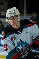 KELOWNA, BC - JANUARY 4: Ethan Ernst #19 of the Kelowna Rockets warms up against the Vancouver Giants  at Prospera Place on January 4, 2020 in Kelowna, Canada. (Photo by Marissa Baecker/Shoot the Breeze)