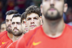 September 17, 2018 - Madrid, Spain - Oriol Pauli of Spain during the FIBA Basketball World Cup Qualifier match Spain against Latvia at Wizink Center in Madrid, Spain. September 17, 2018. (Credit Image: © Coolmedia/NurPhoto/ZUMA Press)