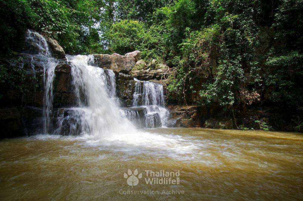 Thap Thewa Waterfall at Pang Sida National Park, Thailand