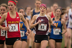 London, Ontario ---2012-11-10--- Lindsay Carson of Mcmaster Marauders competes at the 2012 CIS Cross Country Championships at Thames Valley Golf Course in London, Ontario, November 10, 2012. .GEOFF ROBINS Mundo Sport Images