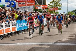 Rider of National Team USA during the Holland Ladies Tour at the finish, 's-Heerenberg, Gelderland, The Netherlands, 1 September 2015.<br /> Photo: Pim Nijland / PelotonPhotos.com