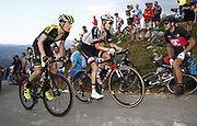 Wilco Kelderman (NED, Team Sunweb) and Jack Haig (AUS, Mitchelton Scott) during the 73th Edition of the 2018 Tour of Spain, Vuelta Espana 2018, Stage 14 cycling race, Cistierna - Les Praeres Nava 171 km on September 8, 2018 in Spain - Photo Luca Bettini/ BettiniPhoto / ProSportsImages / DPPI