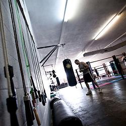 Saturday morning boxing a Sweet Z's Gym in Kansas City, KS. Aug. 24, 2013.