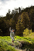 Fly fishing With Eirik H. below Pactola Lake in Western South Dakota
