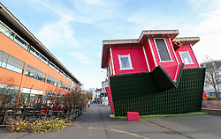 'The Upside Down House', a zero-gravity illusion experience, in The Triangle in Bournemouth, Dorset.