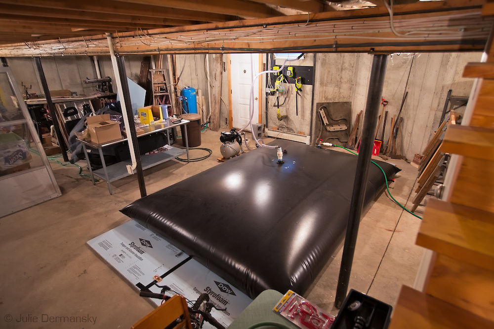 Water bladder in the Chichura family's basement supplied by Cabot Oil.