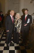 Buzz Aldrin, Lois Aldrin and The Duke of Northumberland, , Launch of ' The World of Private Castles, Palaces and Estates. Syon House. 31 October 2005. ONE TIME USE ONLY - DO NOT ARCHIVE © Copyright Photograph by Dafydd Jones 66 Stockwell Park Rd. London SW9 0DA Tel 020 7733 0108 www.dafjones.com