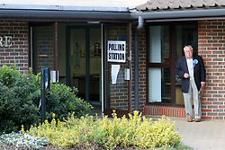 Polling station Banstead Community Hall; General Election May 2005 UK