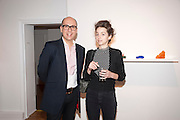 ROBERT DEVCIC; JULIE HILL, Relics of the Mind.- Private view of work by Katharine Dowson. GV Art, 49 Chiltern st. London. W1. 16 September 2010. -DO NOT ARCHIVE-© Copyright Photograph by Dafydd Jones. 248 Clapham Rd. London SW9 0PZ. Tel 0207 820 0771. www.dafjones.com.