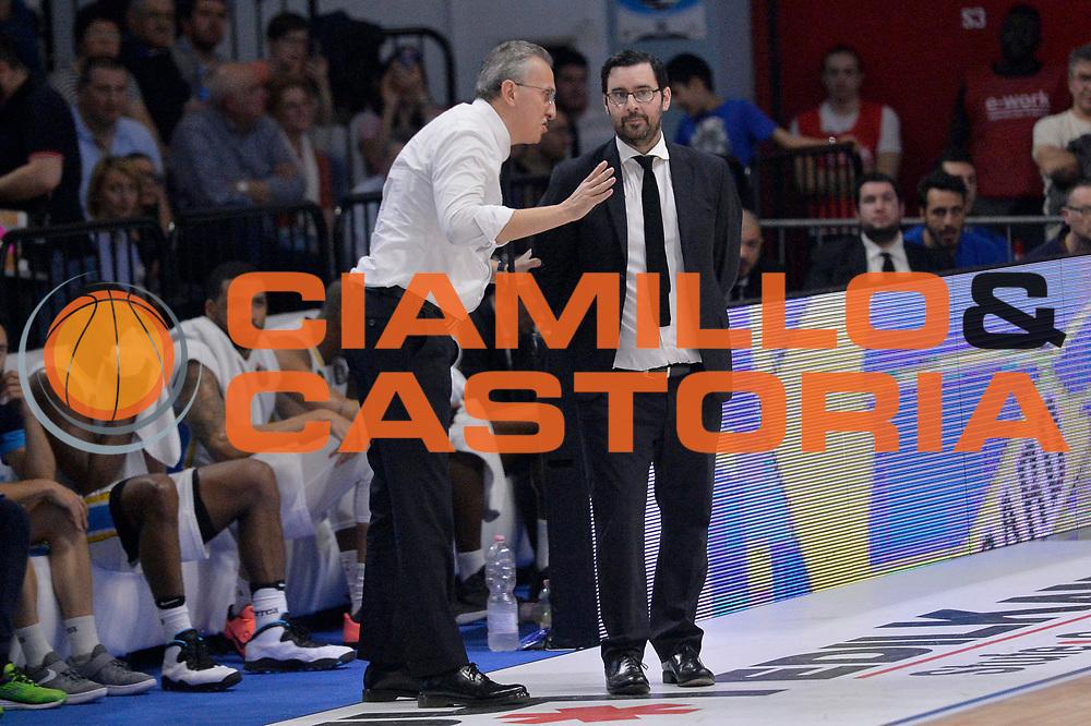 Paolo Lepore, Andrea Zanchi<br /> Vanoli Cremona - Germani Basket Brescia Leonessa<br /> Lega Basket Serie A 2016/2017<br /> Cremona, 09/04/2017<br /> Foto M.Ceretti / Ciamillo - Castoria