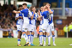 Rory Gaffney of Bristol Rovers celebrates his goal with team mates - Mandatory by-line: Dougie Allward/JMP - 30/09/2017 - FOOTBALL - Memorial Stadium - Bristol, England - Bristol Rovers v Plymouth Argyle - Sky Bet League One