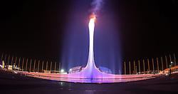 23.02.2014, Olympiapark, Adler, RUS, Sochi 2014, Abschlussfeier, im Bild Olympische Flamme // Olympic flame during the closing Ceremony of the Olympic Winter Games Sochi 2014 at the Olypic Park in Adler, Russia on 2014/02/23. EXPA Pictures © 2014, PhotoCredit: EXPA/ Johann Groder