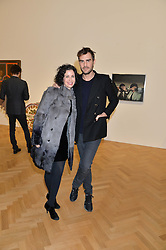 MOLLIE DENT-BROCKLEHURST and OSCAR HUMPHRIES at the opening private view of 'A Strong Sweet Smell of Incense - A portrait of Robert Fraser, held at the Pace Gallery, Burlington Gardens, London on 5th February 2015.